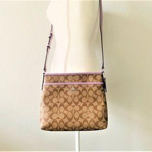 NWT Coach File Bag Crossbody Lilac Purple